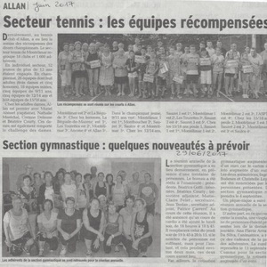 Section tennis et gym